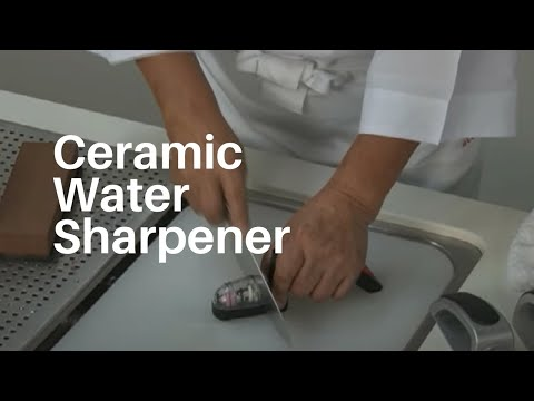 How to use the Global MinoSharp Ceramic Water Sharpener