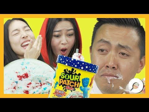 Sour Patch Kids Ice Cream! GROSS?!