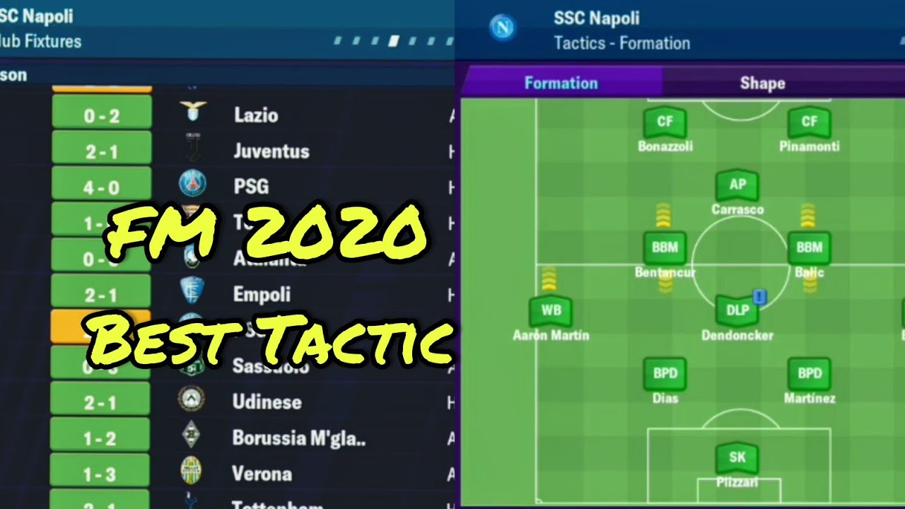 Football Manager 2020 Mobile Best Tactic Youtube