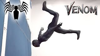 Venom Spiderman Parkour In Real Life (black spider-man)