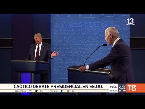 """Un debate """"caótico"""": el análisis tras el cara a cara entre Donald Trump y Joe Biden"""