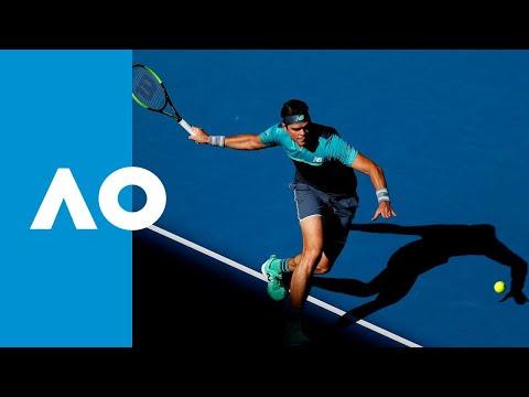 Milos Raonic v Pierre-Hugues Herbert third set tiebreak (3R)   Australian Open 2019