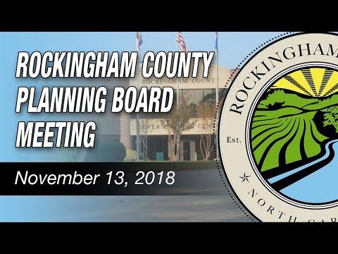 November 13, 2018 Rockingham County Planning Board Meeting