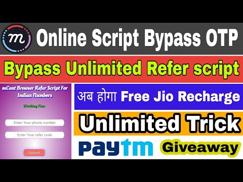 Mcent Online Script Bypass OTP Unlimited Refer Bypass Live