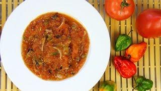 Wintertime Tomato Choka (vegan) | CaribbeanPot.com