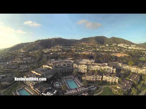 flying over the Montage hotel in  Laguna Beach