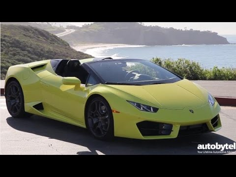 2017 Lamborghini Huracan LP 580 2 Spyder Test Drive Video Review