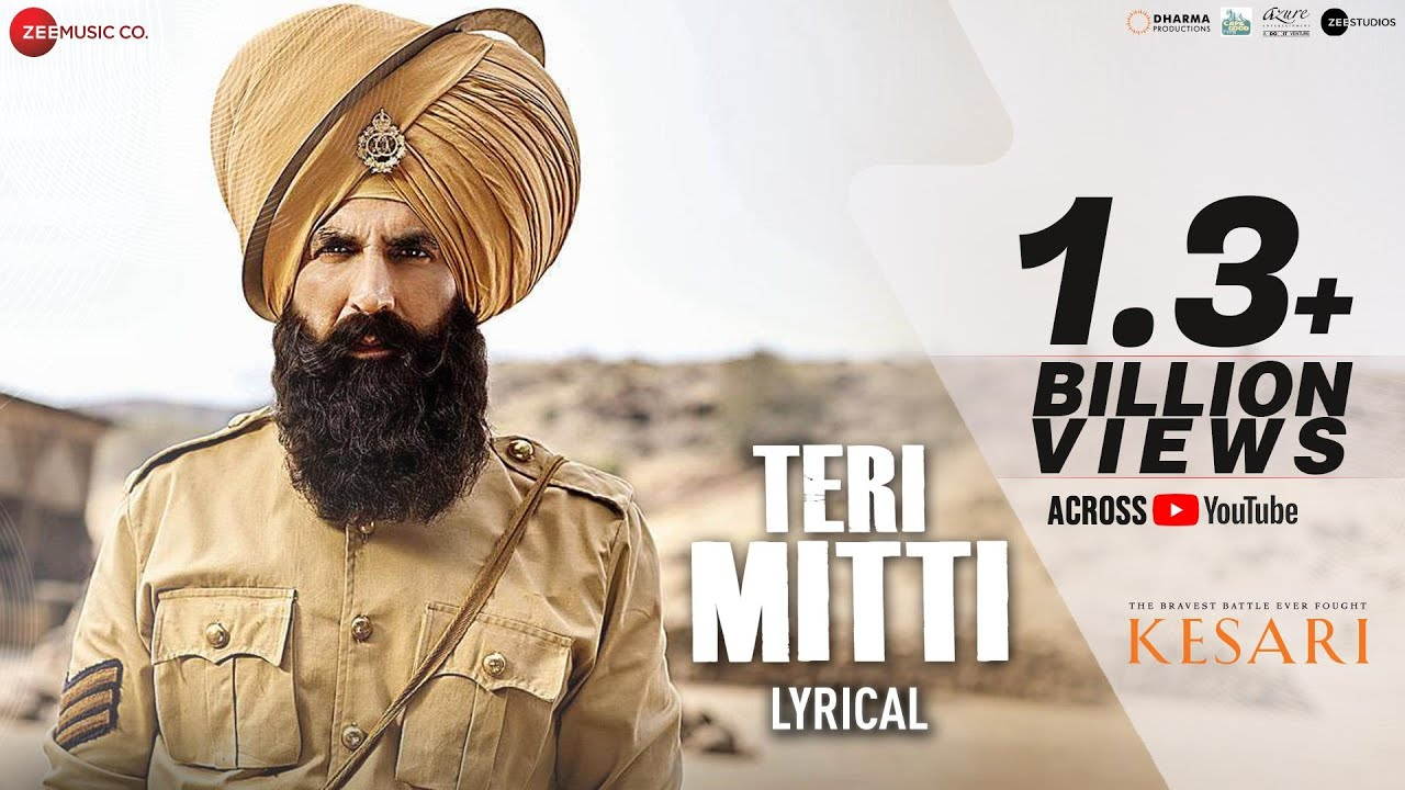 Download Teri Mitti - Lyrical | Kesari | Akshay Kumar & Parineeti Chopra | Arko | B Praak| Manoj Muntashir