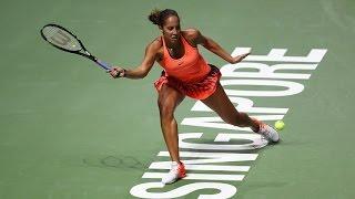 Madison Keys vs Dominika Cibulkova | 2016 WTA Finals Singapore Highlights