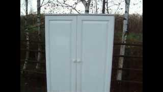 Painted Shabby Chic Wardrobe, Made Of Solid Pine