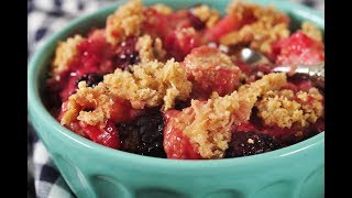 Blackberry Rhubarb Crisp Recipe Demonstration - Joyofbaking.com
