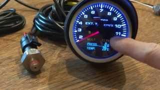 Depo Racing   4in1 Exhaust Gas Temperature Gauge WA60574B