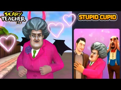 SCARY TEACHER 3D - Stupid Cupid - Queen of Hearts - Special Levels - Valentine's Day
