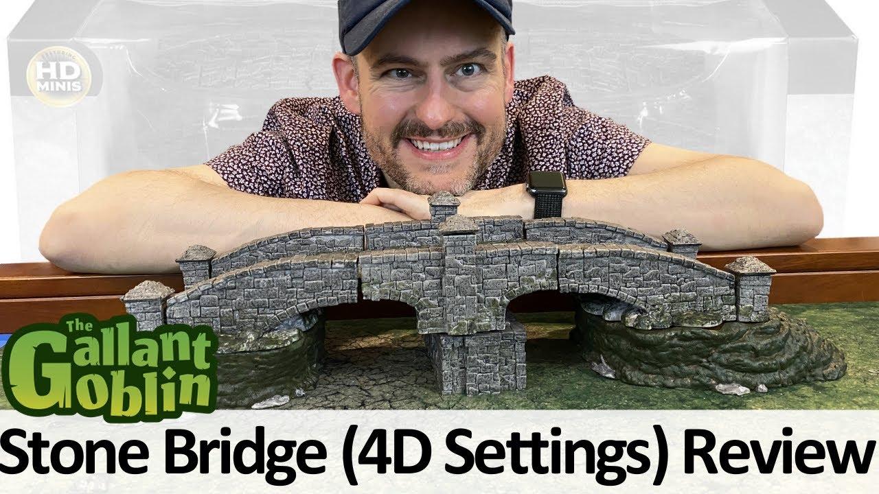 4D Settings: Stone Bridge Review - WizKids Prepainted Miniature Terrain