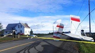 Plane crash narrowly misses home