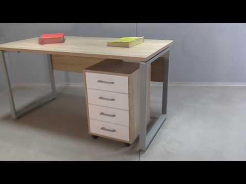 Письменный стол МОЭ61 с тумбой СК74
