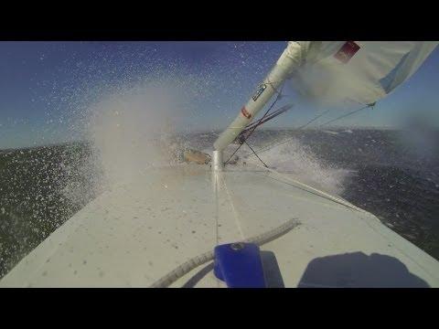 Laser sailing Broken mast