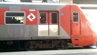 CPTM - CAF 8004/8001 partindo da Estação Barra Funda
