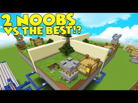 2 NOOBS VS THE BEST - Minecraft MINI WALLS PVP Minigame