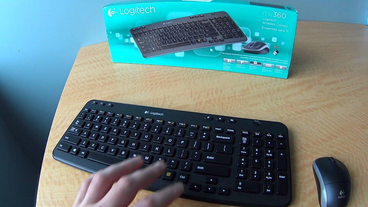 LIKE NEW™ Logitech Wireless Combo MK360 Keyboard /& Wireless Mouse Combo