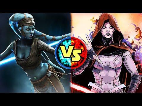 Star Wars Versus: Aayla Secura VS. Asajj Ventress - Star Wars Basis Versus #13
