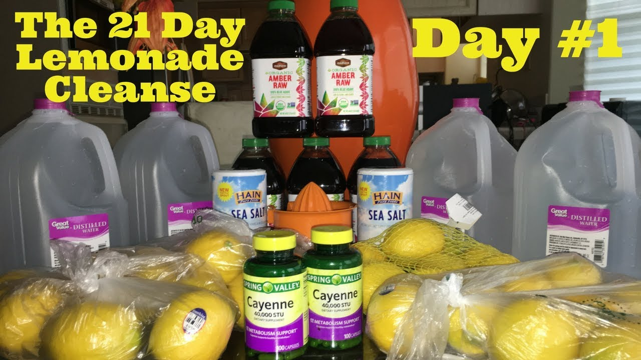 Summerella 21 Day Lemonade Cleanse Day 1 03 12 18 Youtube
