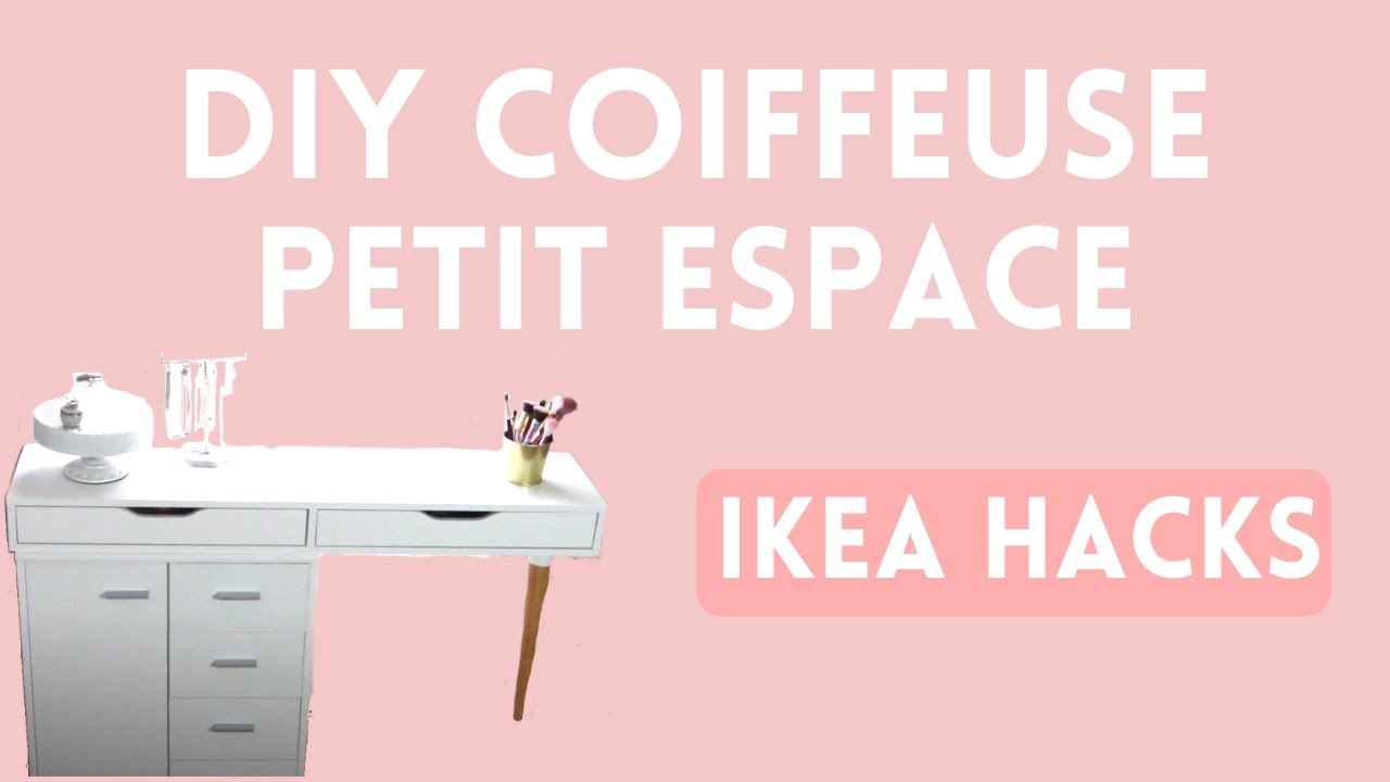 Homedecor Diy Calybeauty Diy Coiffeuse Ikea Hacks Dressing Table Caly Beauty Youtube
