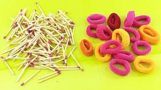 Matchstick Art and Craft Idea with Hair rubber bands | matchstick cool craft