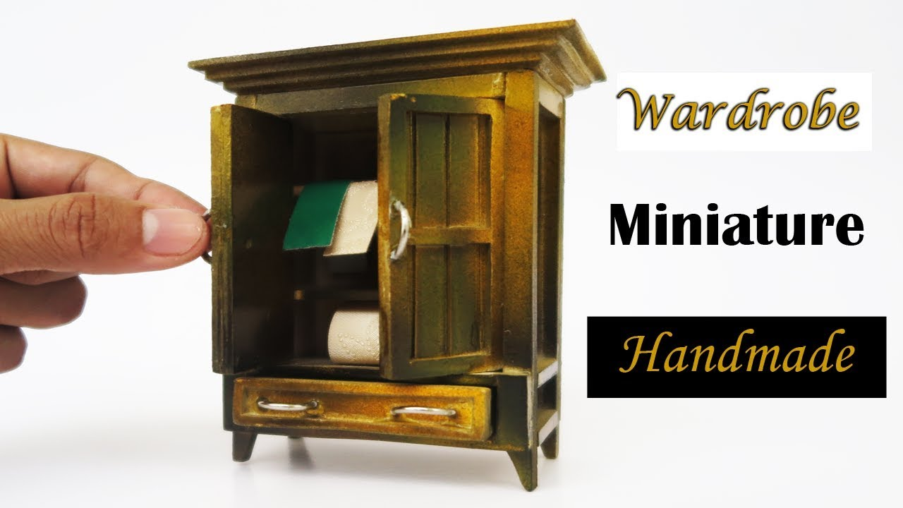 How to make Miniature Wardrobe | dollhouse | easy crafts ideas