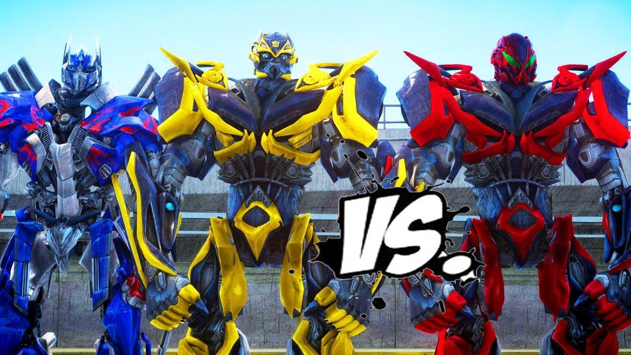 Optimus Prime Bumblebee Vs Stinger Transformers Battle