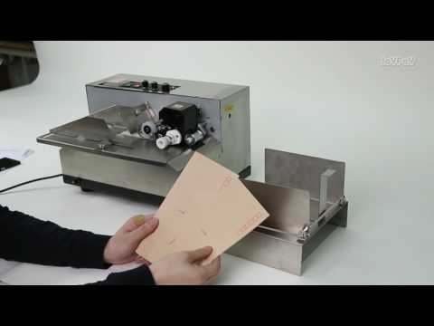 the operation of the solid ink roll coding machine MY-380F