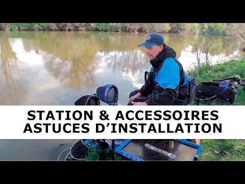 Installation d'une station de pêche au coup et des accessoires avec Stéphane Pottelet