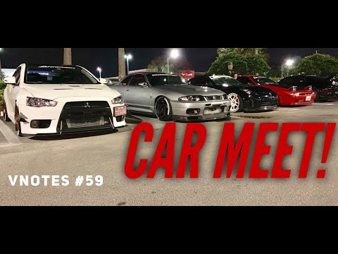 Vnotes #59 SHUTTING DOWN A CAR MEET and CLEANING ENGINE BAY.... OIL LEAK:(