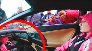 Picking up my daughter in my LAMBORGHINI! *Lambo School Pickup*