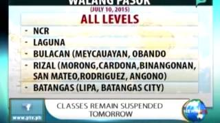NewsLife: Classes remain suspended tomorrow || Jul. 9, 2015