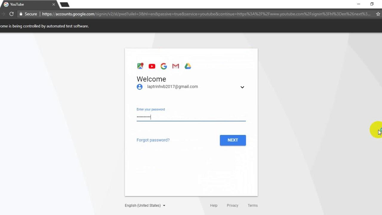 [C#] Auto Login Gmail Selemium