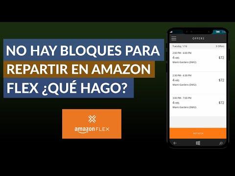 No hay Bloques para Repartir en Amazon Flex ¿Qué hago? - Solución