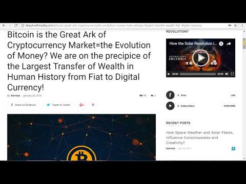 CryptoCurrencies, Bitcoin, How Collective Consciousness is Building Fake/Fictitious New World Order