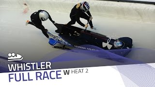 Whistler | BMW IBSF World Cup 2016/2017 - Women's Bobsleigh Heat 2 | IBSF Official