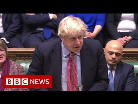 Boris Johnson gives his first Commons speech after the election - BBC News