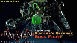 Batman Arkham Knight - Most Wanted Side Mission - Riddler Boss Fight - New Game Plus