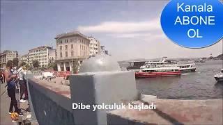 Galata köpüsü su altı videosu 1- Galata cannon underwater video capture 1