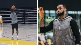 LeBron James & Rajon Rondo Close to Return Practice at Lakers Facility!