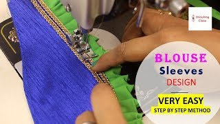 Blouse designs Sleeves cutting and stitching, Beautiful Party wear cap sleeve designs for blouse