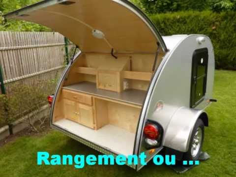 alpina caravanette teardrop mini caravane youtube. Black Bedroom Furniture Sets. Home Design Ideas