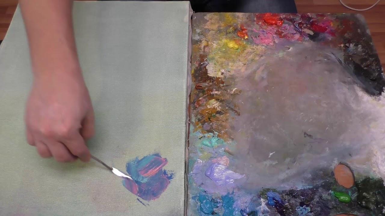 Живопись мастихином. Научиться писать картины мастихином. Художник Ревякин.