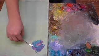 как работать мастихином, живопись маслом