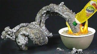 Potasyum Permanganat'ı Bulaşık Deterjanına Koyun ve Sonucu Görün - Eğlenceli Deney Serisi #1