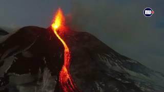 Vulkaan Uitbarsting Etna 123