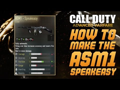 Call of Duty: Advanced Warfare - HOW TO GET/BUILD THE ASM1 SPEAKEASY - ELITE SMG